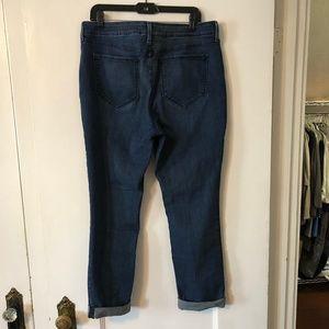 NYDJ Jeans - NYDJ Leann Cropped Cuffed Dark Jean Size 16